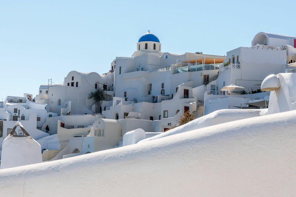 Fotografie WHITE HOUSES OF SANTORINI GREECE - RICHARD SILVER - Bildermalerei