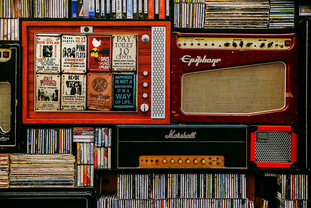 Kunstfoto Rock N' Sound -  Sandmulas - Foto schilderij