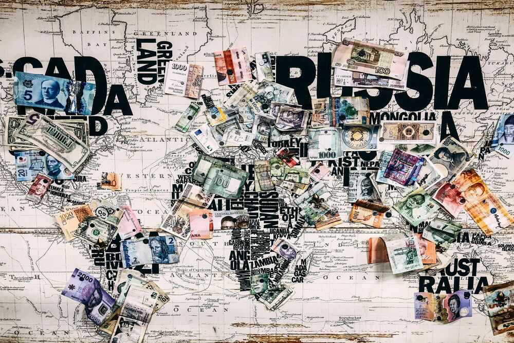 Photographie World Paper Money -  Sandmulas - Tableau photo