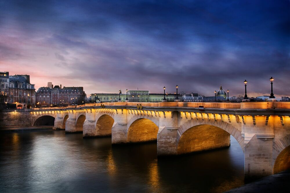 Photographie Le pont neuf by night - SERGE RAMELLI - Tableau photo
