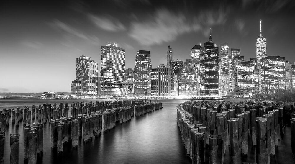Photographie Manhattan by Night - SERGE RAMELLI - Tableau photo