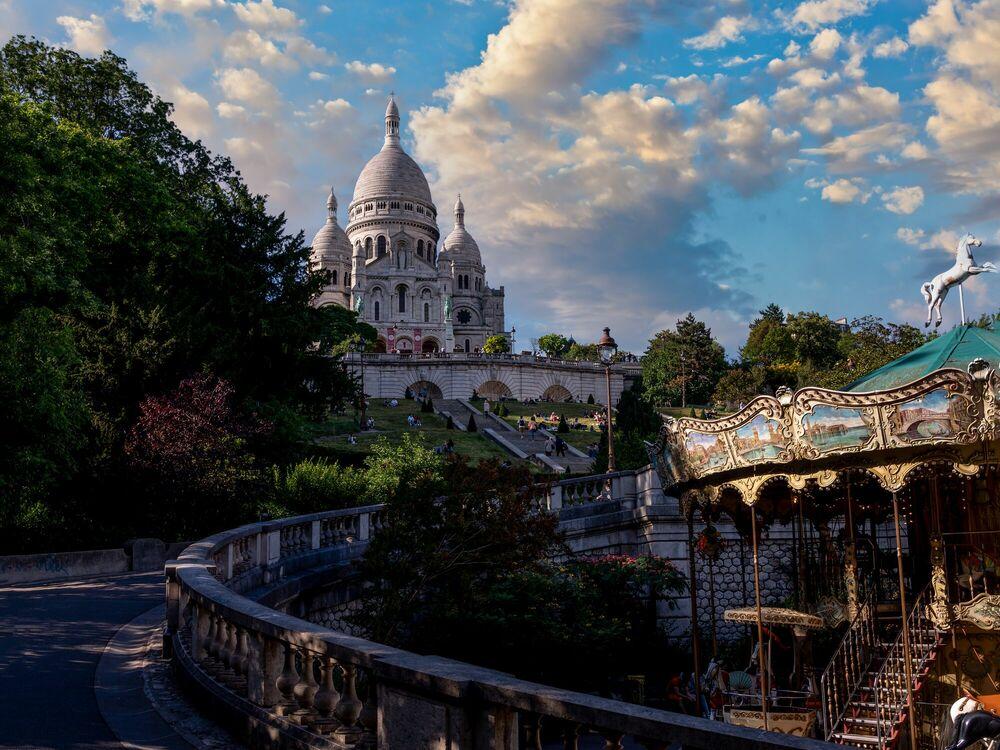Fotografie Montmartre view - SERGE RAMELLI - Bildermalerei