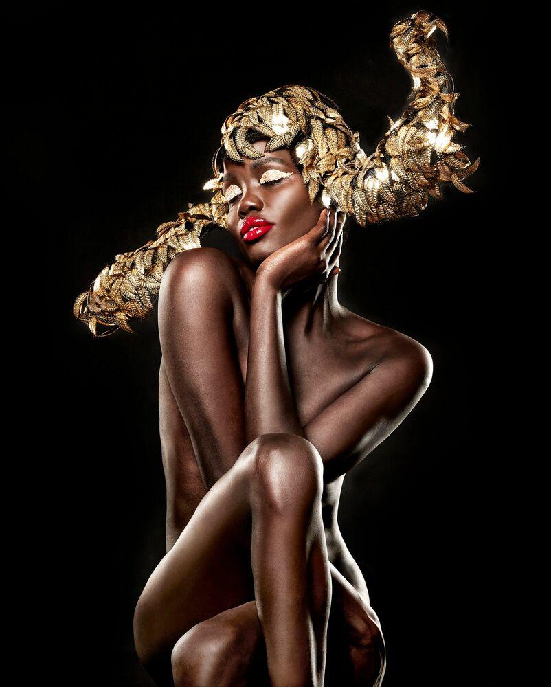 Fotografia Liquid Gold - STEVEN MENENDEZ  - Pittura di immagini