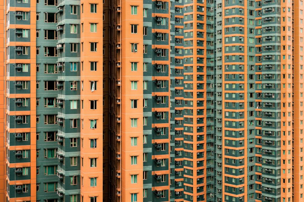 Fotografia RESIDENSITY GREEN ORANGE - THIBAUD POIRIER - Pittura di immagini