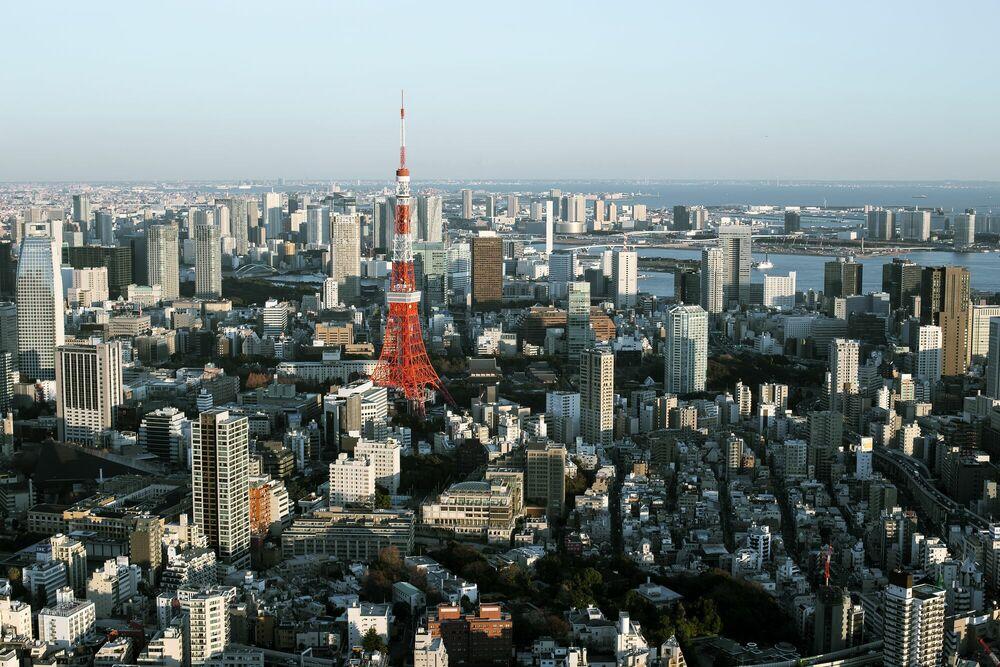 Fotografie TOKYO SKYLINE - THIBAUD POIRIER - Bildermalerei
