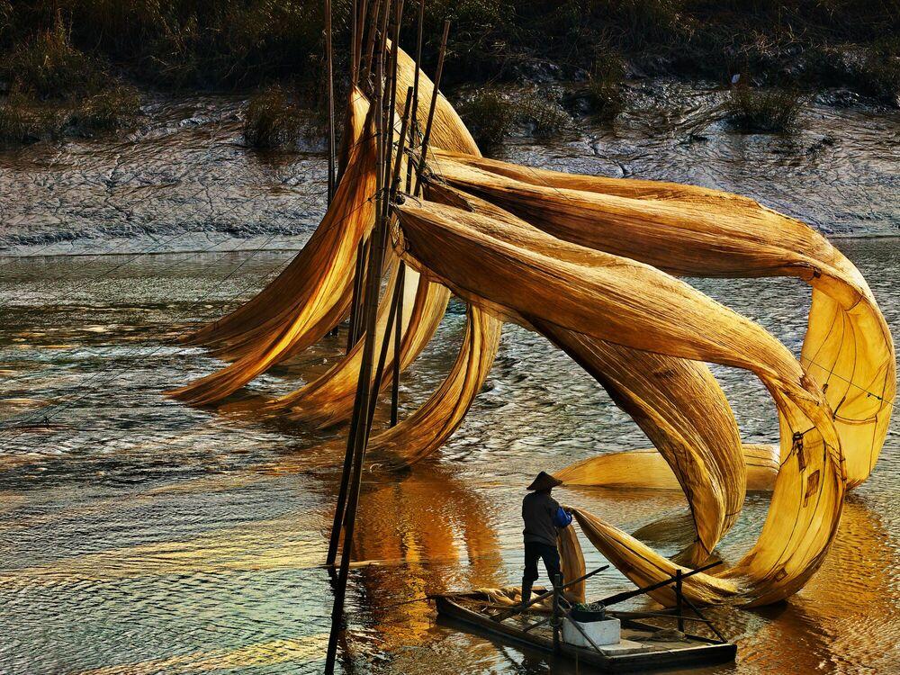 Fotografie Floating nets - THIERRY BORNIER - Bildermalerei
