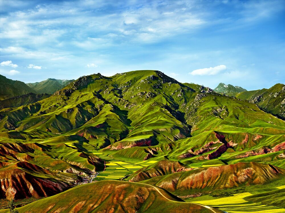 Fotografie Qilian mountain - THIERRY BORNIER - Bildermalerei