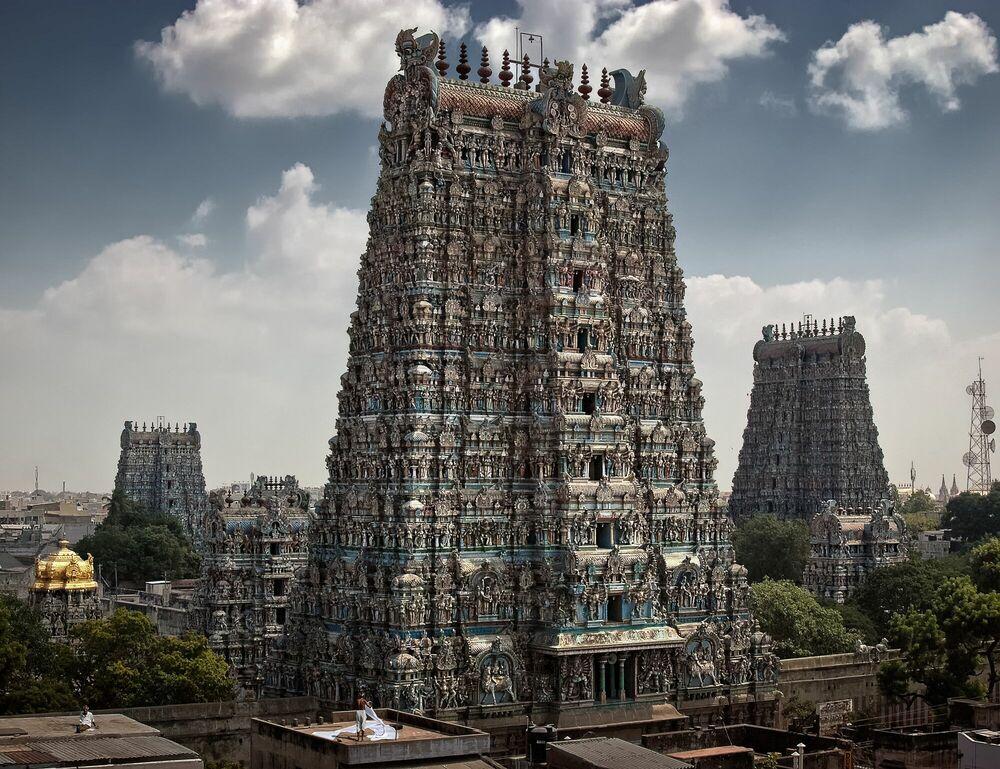 Fotografie Madurai - Sri Minakshi Sundareshwara Tempel - WOLFGANG WEINHARDT - Bildermalerei