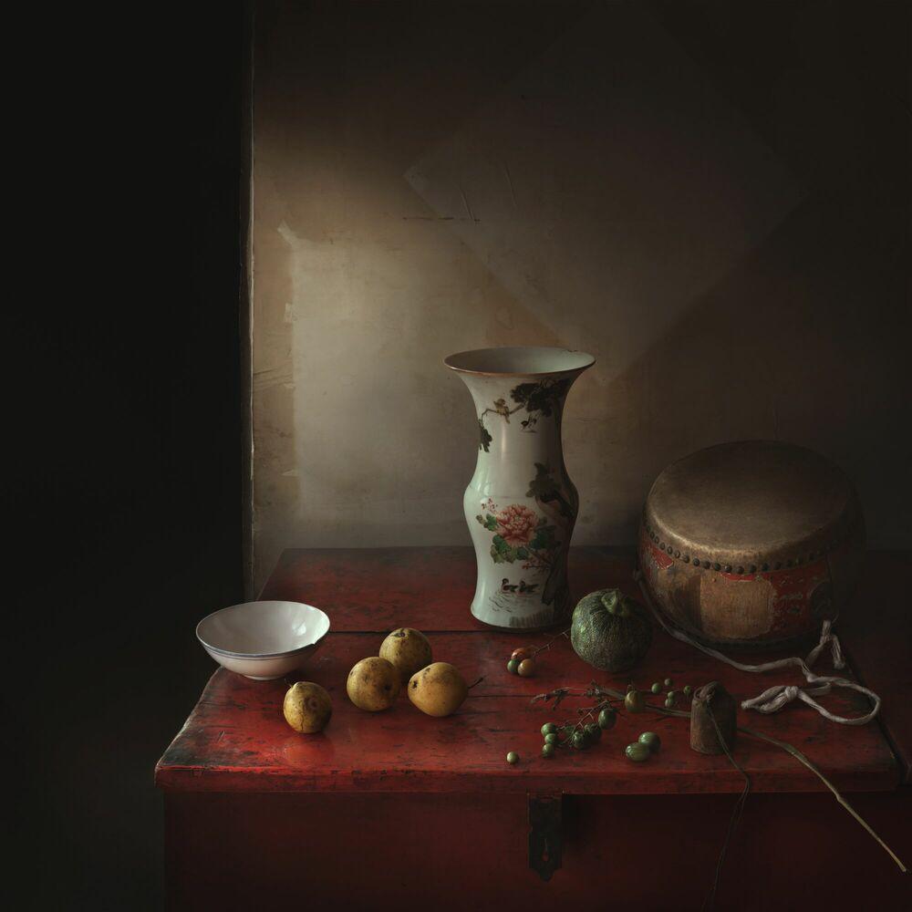 Photographie La table rouge - YANG BIN - Tableau photo