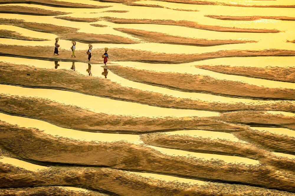 Fotografie Patterns of Irrawaddy - Zay Yar Lin - Bildermalerei