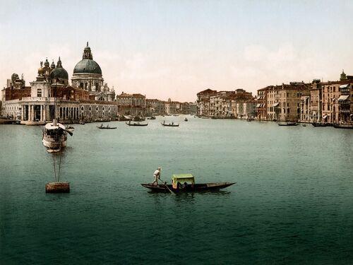 L'ENTRÉE DU GRAND CANAL DE VENISE 1895 -  ADOC PHOTOS - Photograph