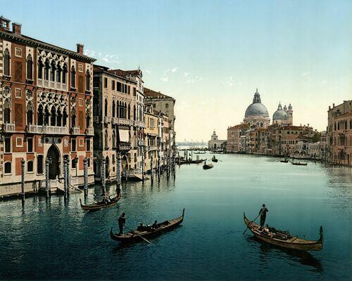 LE GRAND CANAL À VENISE 1895 -  ADOC PHOTOS - Photograph