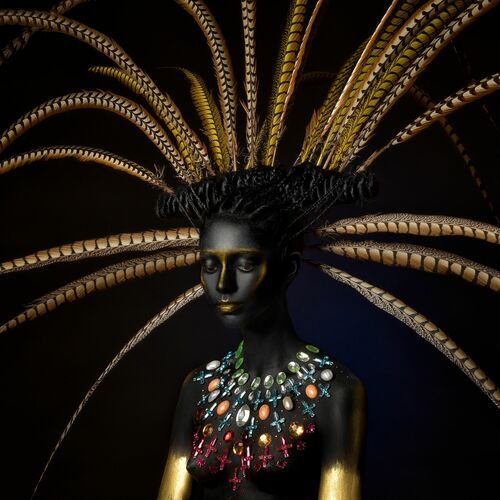 THE THOUGHT OF A MAYAN QUEEN - ALFREDO SANCHEZ - Fotografie