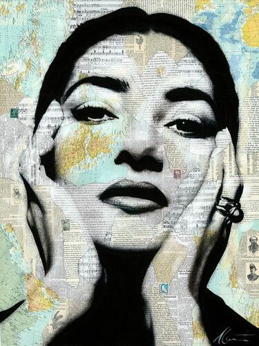 MARIA CALLAS - ANDRE MONET - Kunstfoto