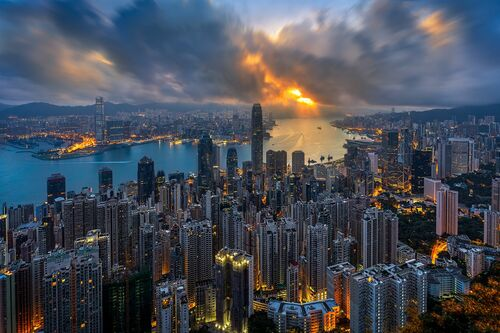 GOLDEN HONG KONG MORNING - ANDY YEUNG - Photographie