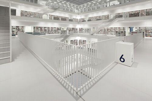 Bibliothek Stuttgart Floor 6 - BERNHARD HARTMANN - Fotografie