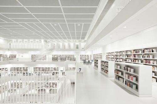 Library Stuttgart Floor - BERNHARD HARTMANN - Photograph