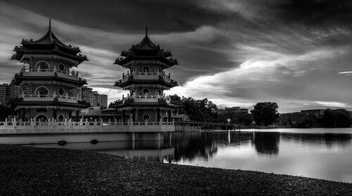 Singapore Chinese Garden Twin Pagodas - Bhushan Matade - Photograph