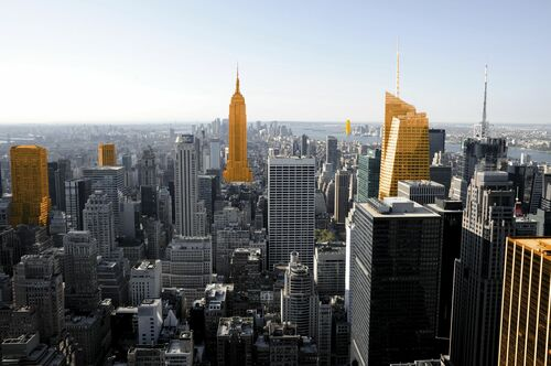 New York Orange Manhattan - CHRISTOPHE MORIN - Kunstfoto