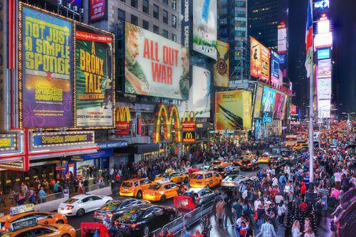 Times Square Saturday Night - CHRISTOPHER BLISS - Fotografía