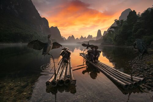 MORNING ON LI RIVER - DANIEL METZ - Fotografie