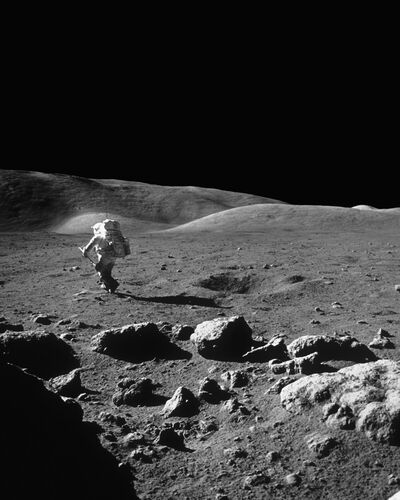 Harrison Schmitt, Apollo 17 - EUGENE CERNAN - Photograph
