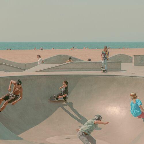 SKATERS OF VENICE BEACH - FRANCK BOHBOT STUDIO - Kunstfoto