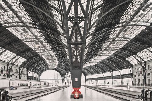 Train station Barcelona - FRANCK BOHBOT STUDIO - Kunstfoto
