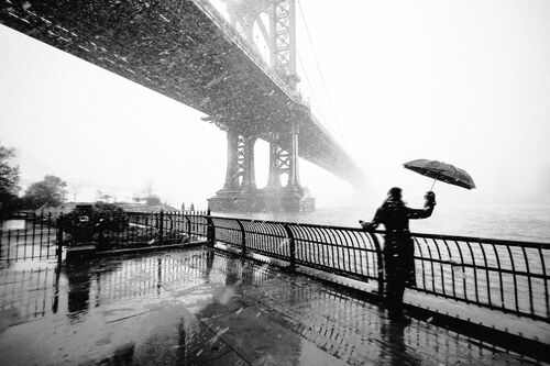 New York Snow Storm - GUILLAUME GAUDET - Fotografía