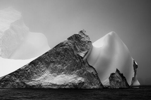 ICE ON BLACK-ANTARCTICA - JAN ERIK WAIDER - Kunstfoto