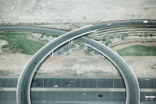 Highway interchange - JEAN-PHILIPPE CARRE-MATTEI - Photograph