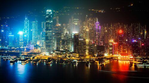 HONG KONG NIGHT SKYLINE I