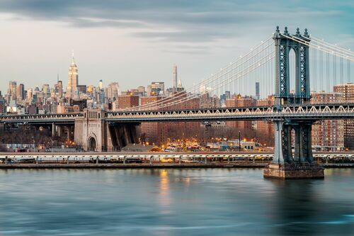 Manhattan Bridge Skyline