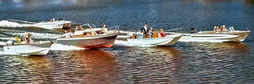 Boating, 1964 - KODAK COLORAMA DISPLAY COLLECTION - HANK MAYER - Photographie