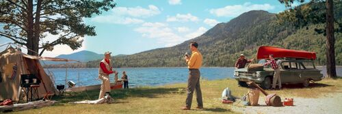 Fishing, 1961 - KODAK COLORAMA DISPLAY COLLECTION - HERBERT ARCHER - Photograph