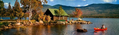 LAKESIDE COTTAGE AND CANOE 1968