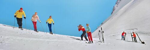 SKIING 1957 - KODAK COLORAMA DISPLAY COLLECTION - PETER GALES - Photographie