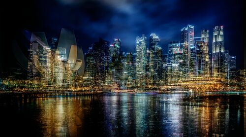 CDB at night - LAURENT DEQUICK - Photographie