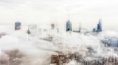 CHICAGO CLOUDS - LAURENT DEQUICK - Kunstfoto