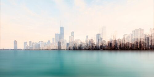 CHICAGO FROM THE LAKE - LAURENT DEQUICK - Kunstfoto