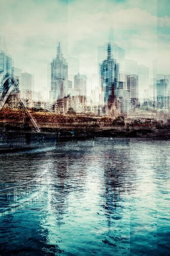 Melbourne from Yarra Footbridge - LAURENT DEQUICK - Photograph