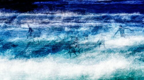 Surf Session at Bondi Beach - LAURENT DEQUICK - Photograph