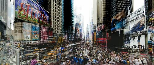 Times Square At 5 - LAURENT DEQUICK - Photograph