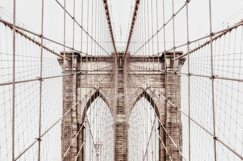 BROOKLYN BRIDGE NETTING -  LDKPHOTO - Kunstfoto