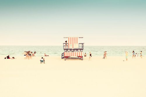 MIAMI BEACH-LIFEGUARD STAND I -  LDKPHOTO - Photographie