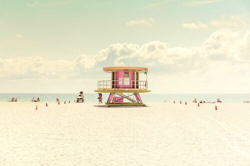 MIAMI BEACH-LIFEGUARD STAND II -  LDKPHOTO - Photographie