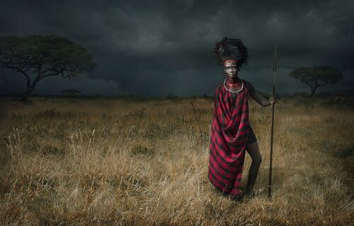Maasai - Before the Storm - LEE HOWELL - Photograph