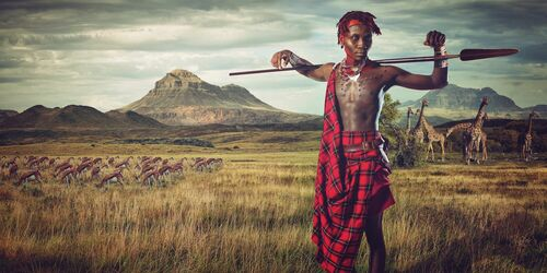 Maasai - Plains of Africa - LEE HOWELL - Kunstfoto