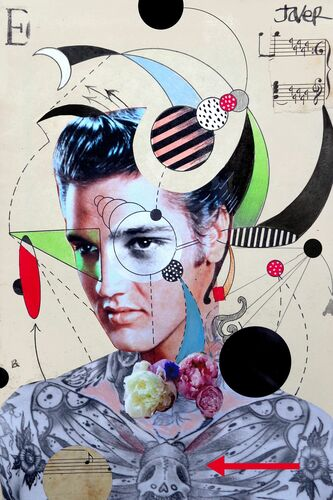 ANALYTICAL STUDY OF ELVIS WITH DEATH HEAD MOTH - LOUI JOVER - Photograph