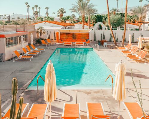 ORANGE POOL PALM SPRINGS